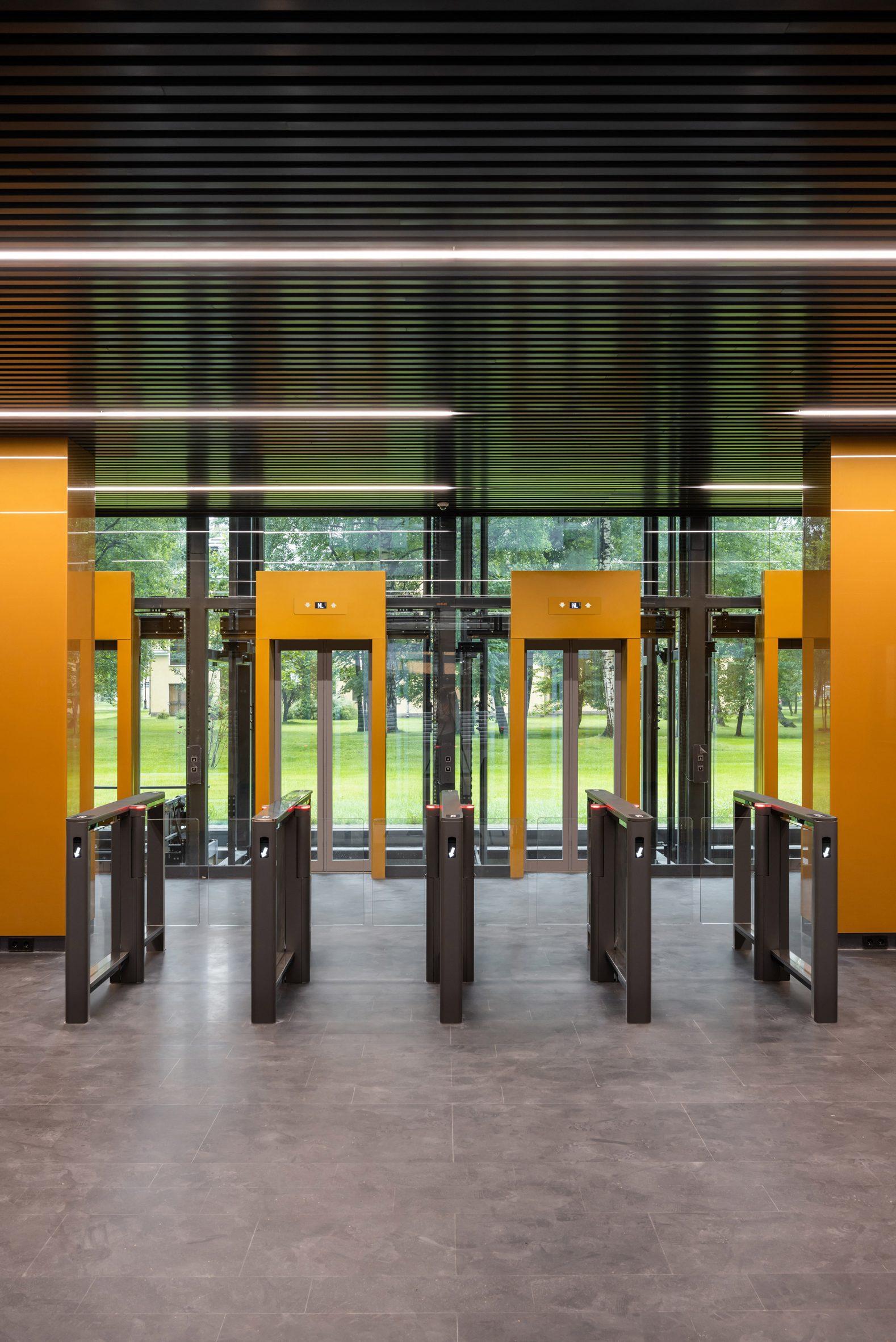 Reception lobby of Ferrum 1 by Tchoban Voss Architekten