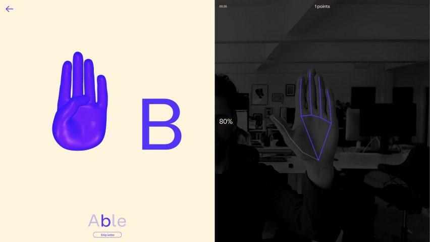 Fingerspelling.xyz app by Hello Monday