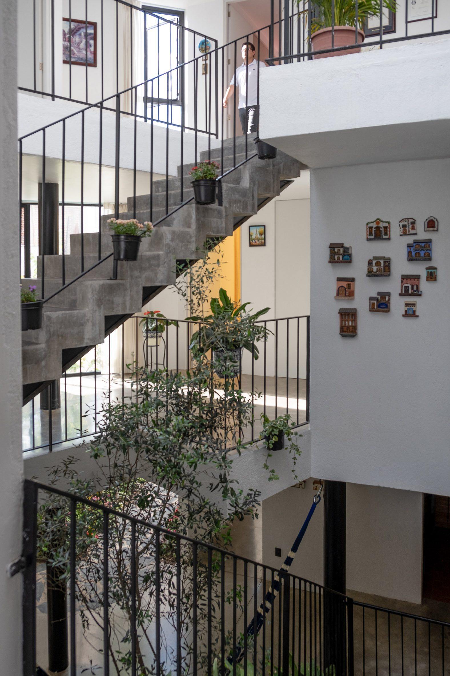 The staircase within Frame House