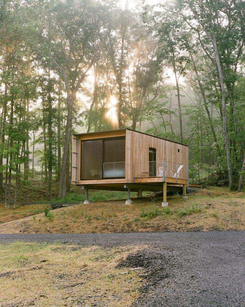 O resort abrange 24 cabines individuais