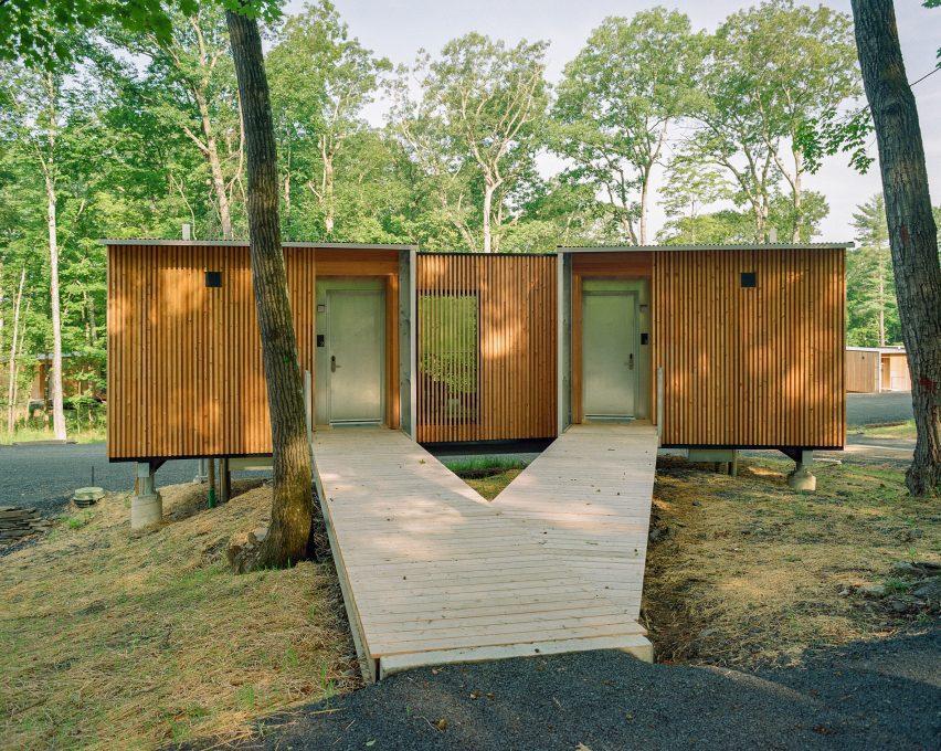O resort fica nas montanhas Catskill