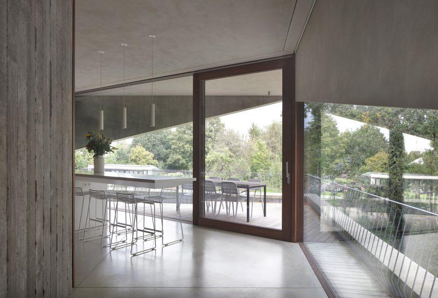 Kitchen space alongside balcony
