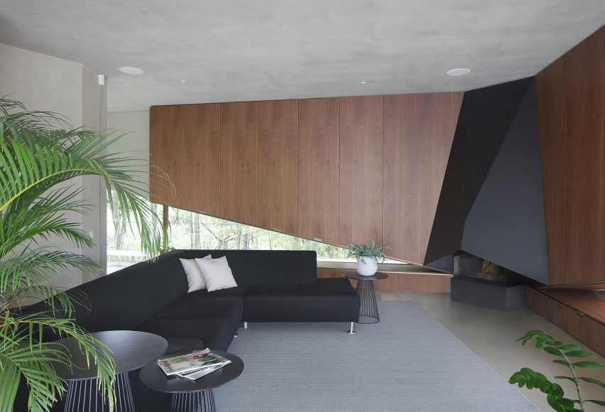 Living room in concrete house