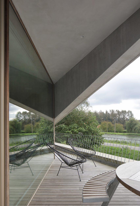Balcony in Belgium home