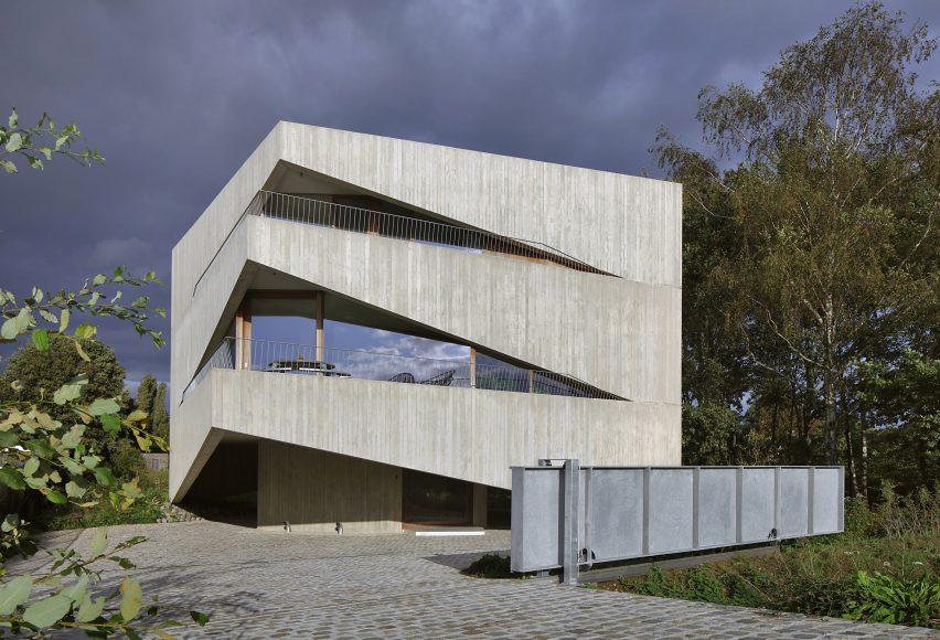 Angular concrete house