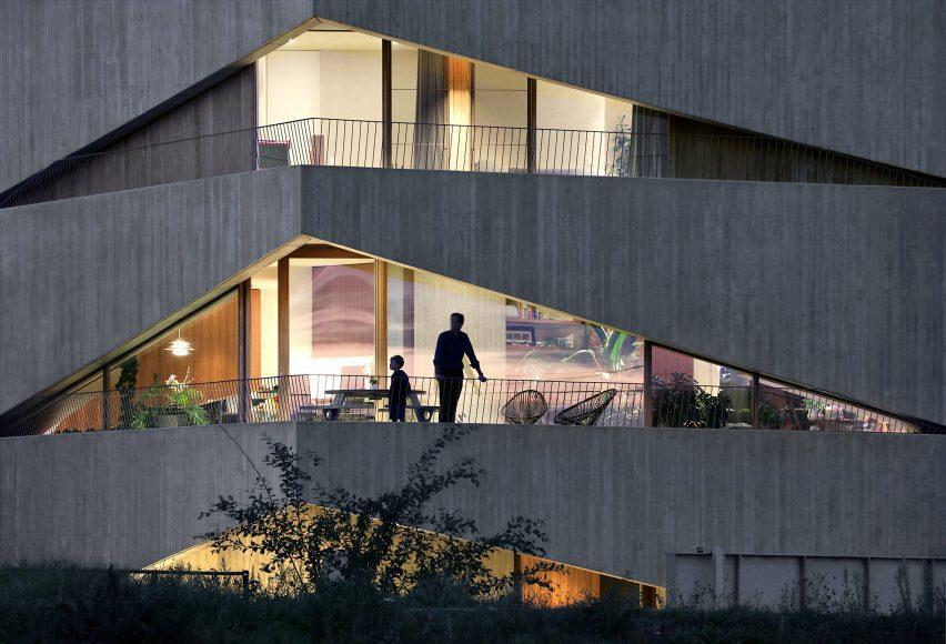 Concrete balconies