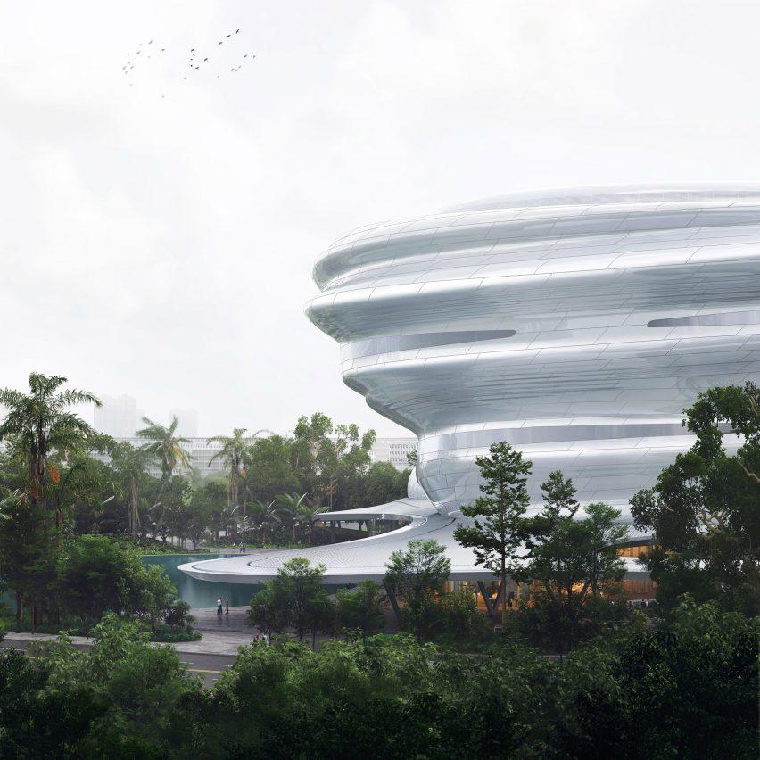 A cloud-like museum