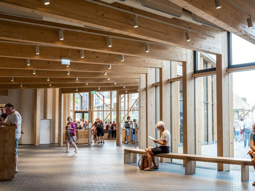 Interior of Danish museum
