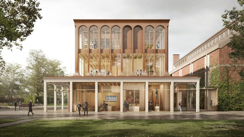 Homerton College entrance building