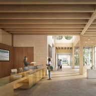 Alison Brooks Architects unveils mass timber entrance block for Cambridge college