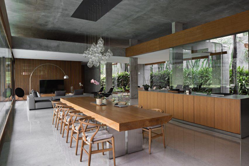 Kitchen in concrete house