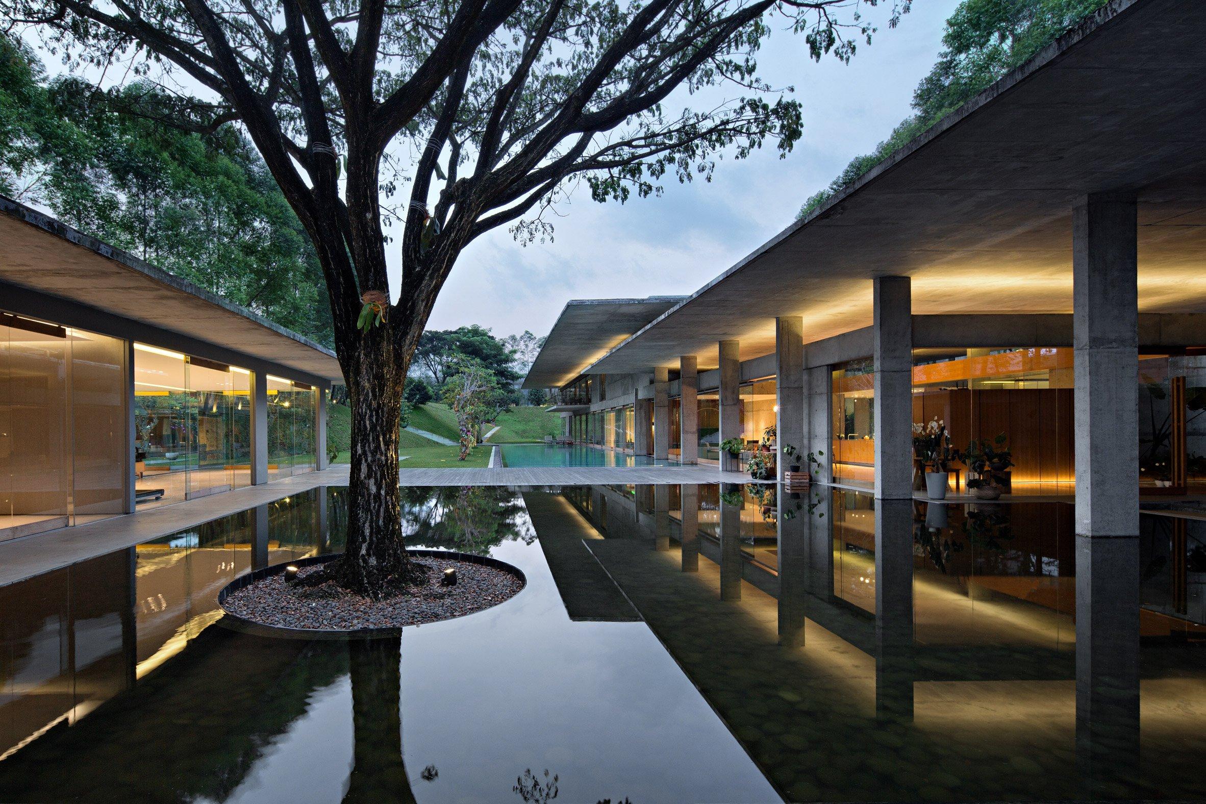 Concrete house in Indonesia