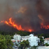 Wildfire in the forest near Marmaris in Turkey