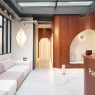 The lobby of Paris Dental Studios