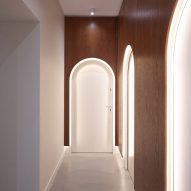 The hallway of the dental practice