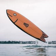 Jean Jullien paints surfboards to look like playful marine animals