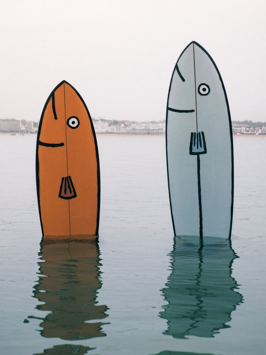Two fish designs are included in the collection