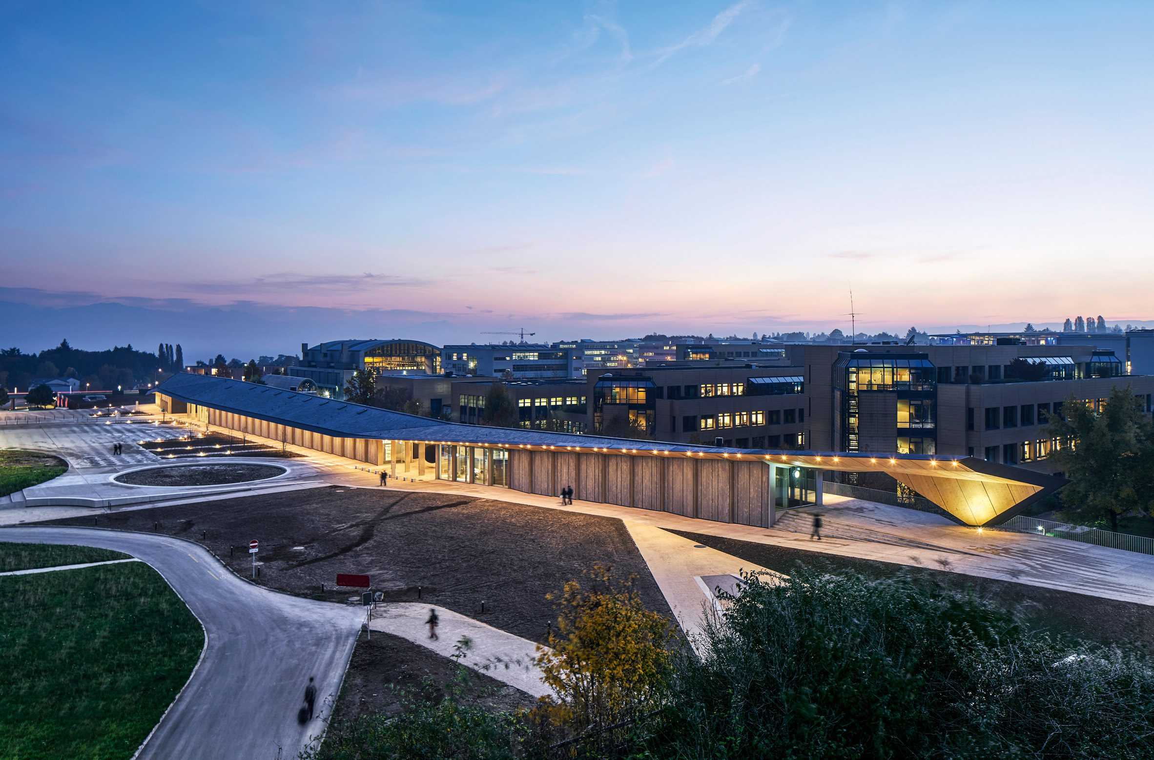 Under One Roof Artlab, Switzerland by Kengo Kuma