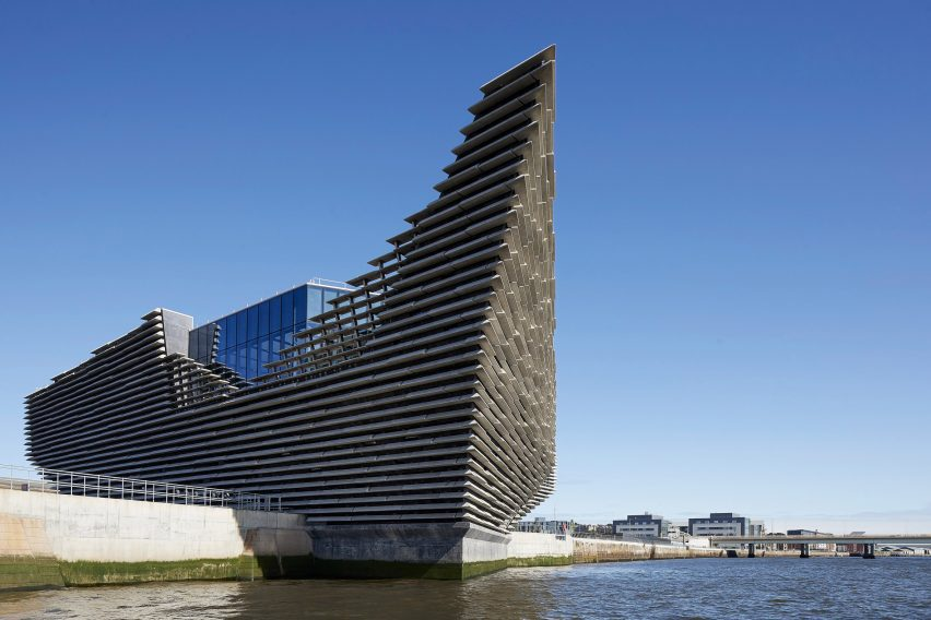Exterior view of V&A Dundee