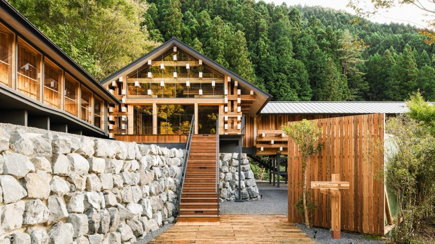 Yusuhara Wooden Bridge Museum by Kengo Kuma