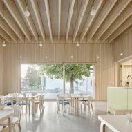 Bernardo Bader Architekten designs extension to timber kindergarten