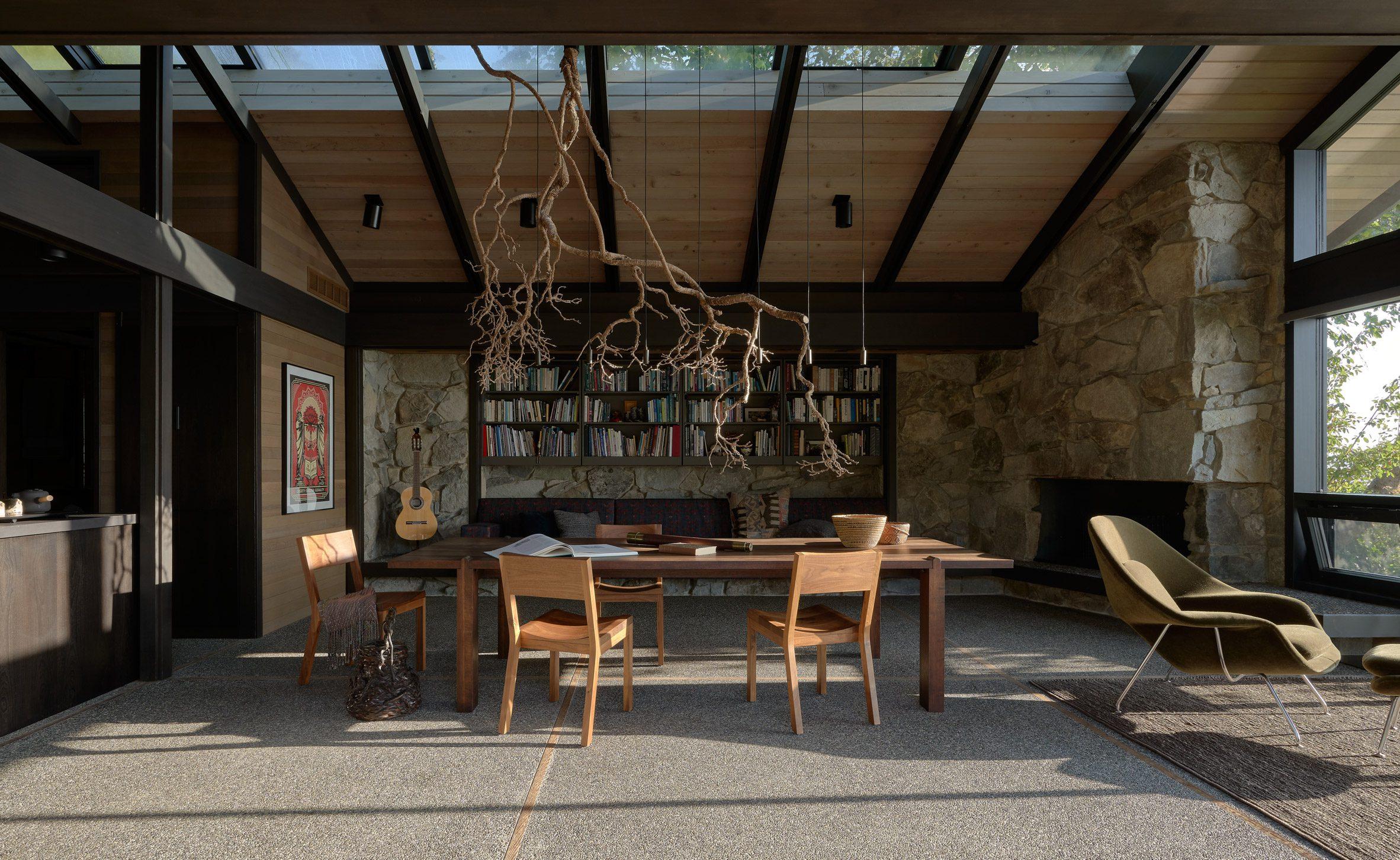 The studio updated Loom House's interiors