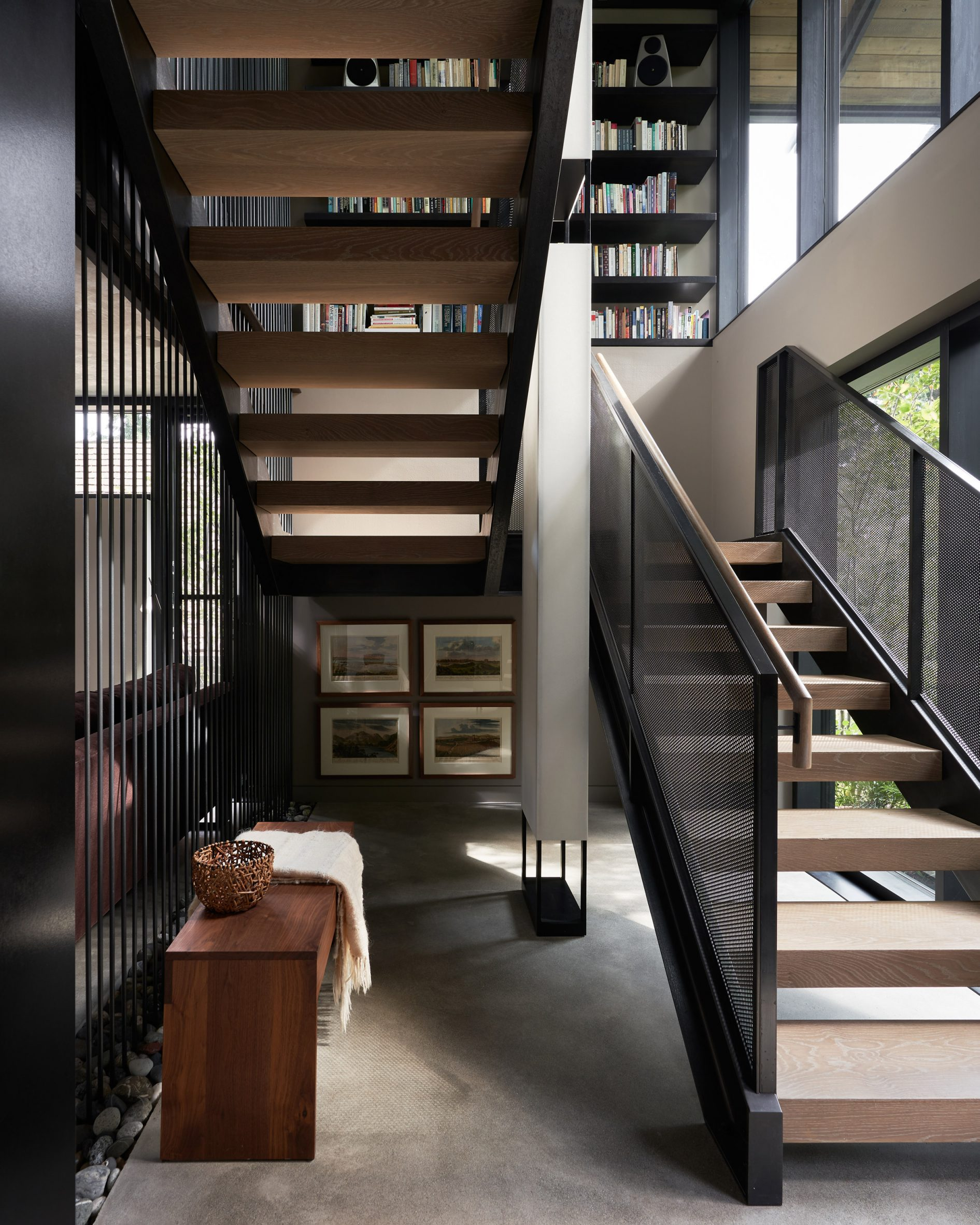 A staircase was added to the project