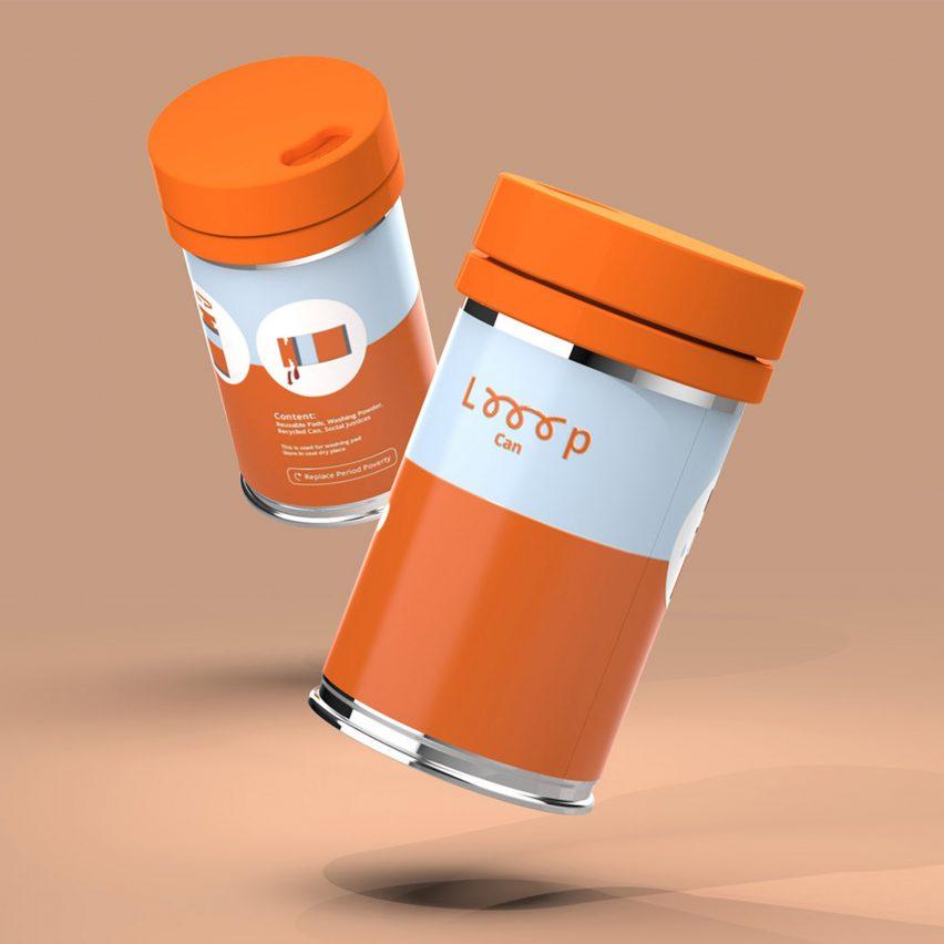 Two orange Looop Cans