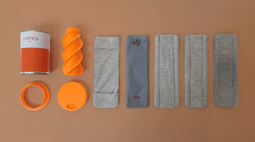 Looop Can and bamboo menstrual pads