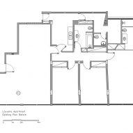 Original floor plan, Louveira Apartment