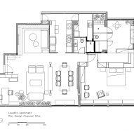 Floor plan, Louveira Apartment