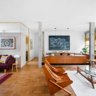 Louveira Building apartment brings together 1940s style and broken-plan living