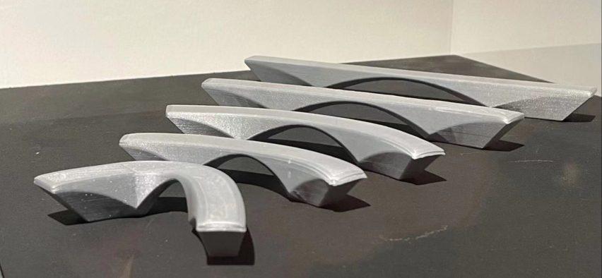 Bench study model by Zaha Hadid