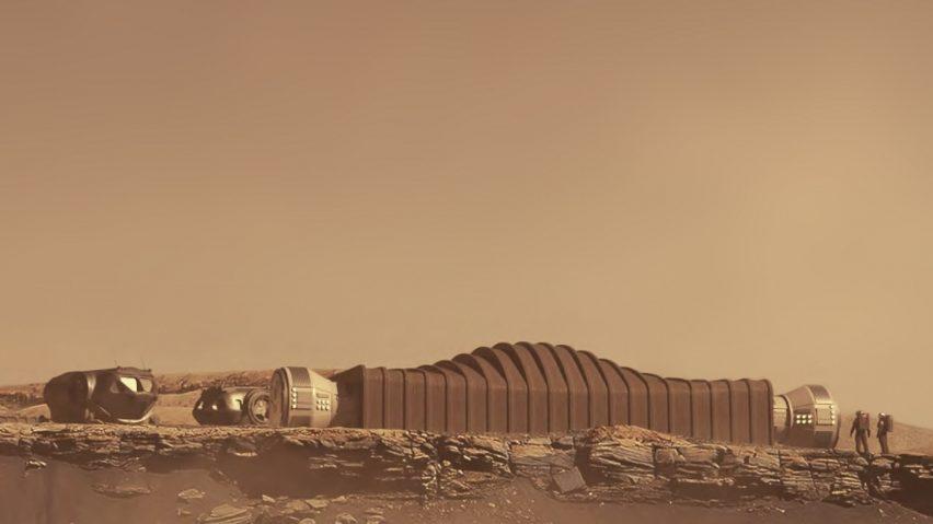 A visual of Mars Duna Alpha on Mars
