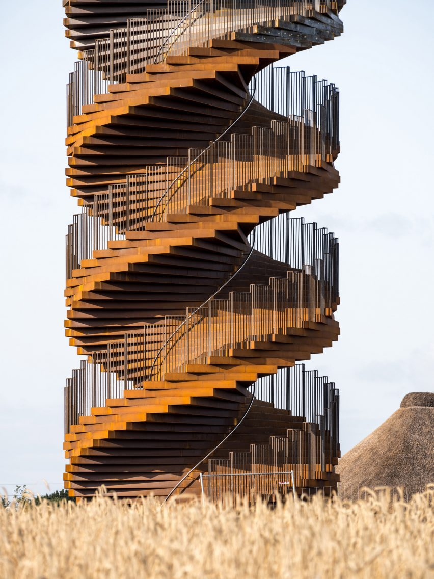 The twisting staircase that forms Marsk Tower