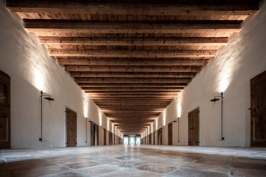 Corridor in Italian hotel