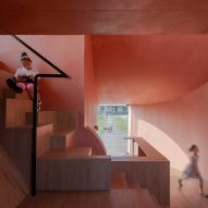 The interiors of Peach Hut by Atelier Xi