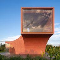 Atelier Xi designs peach-coloured concrete pavilion in rural China