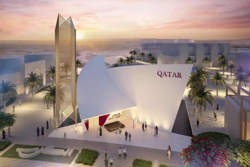 Qatar Pavilion by Calatrava