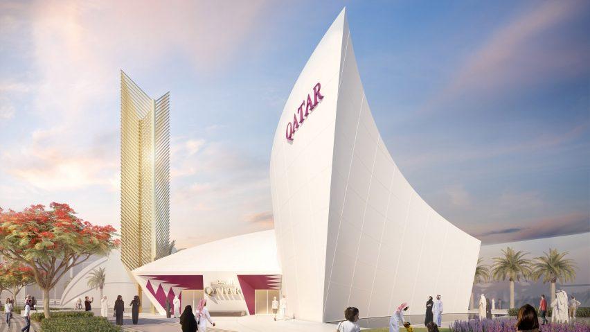Qatar Pavilion by Santiago Calatrava