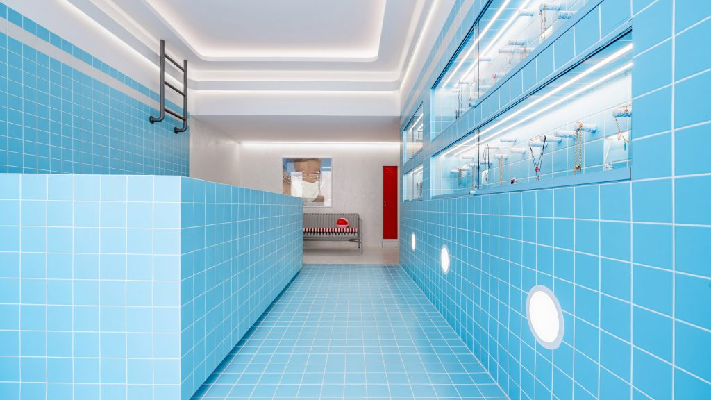 Saint of Athens jewellery store designed to resemble 1960s swimming pool