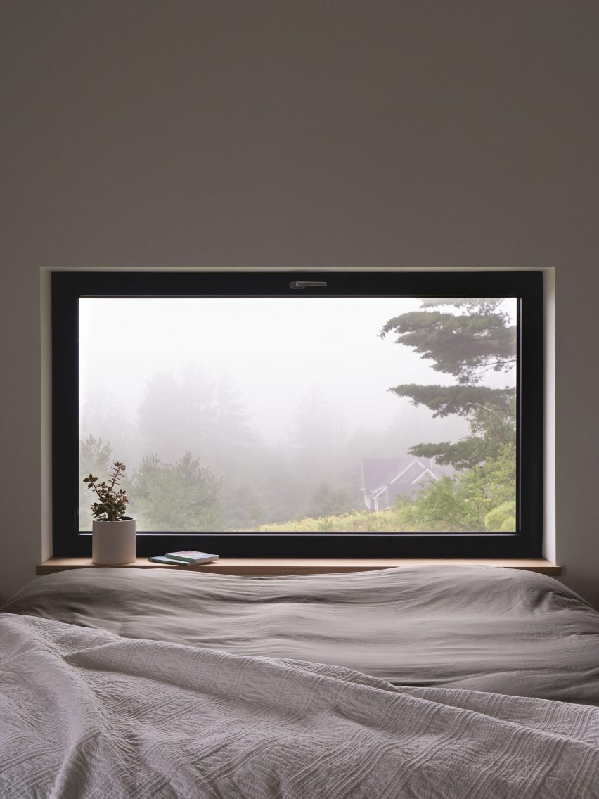 Bedroom window with misty view