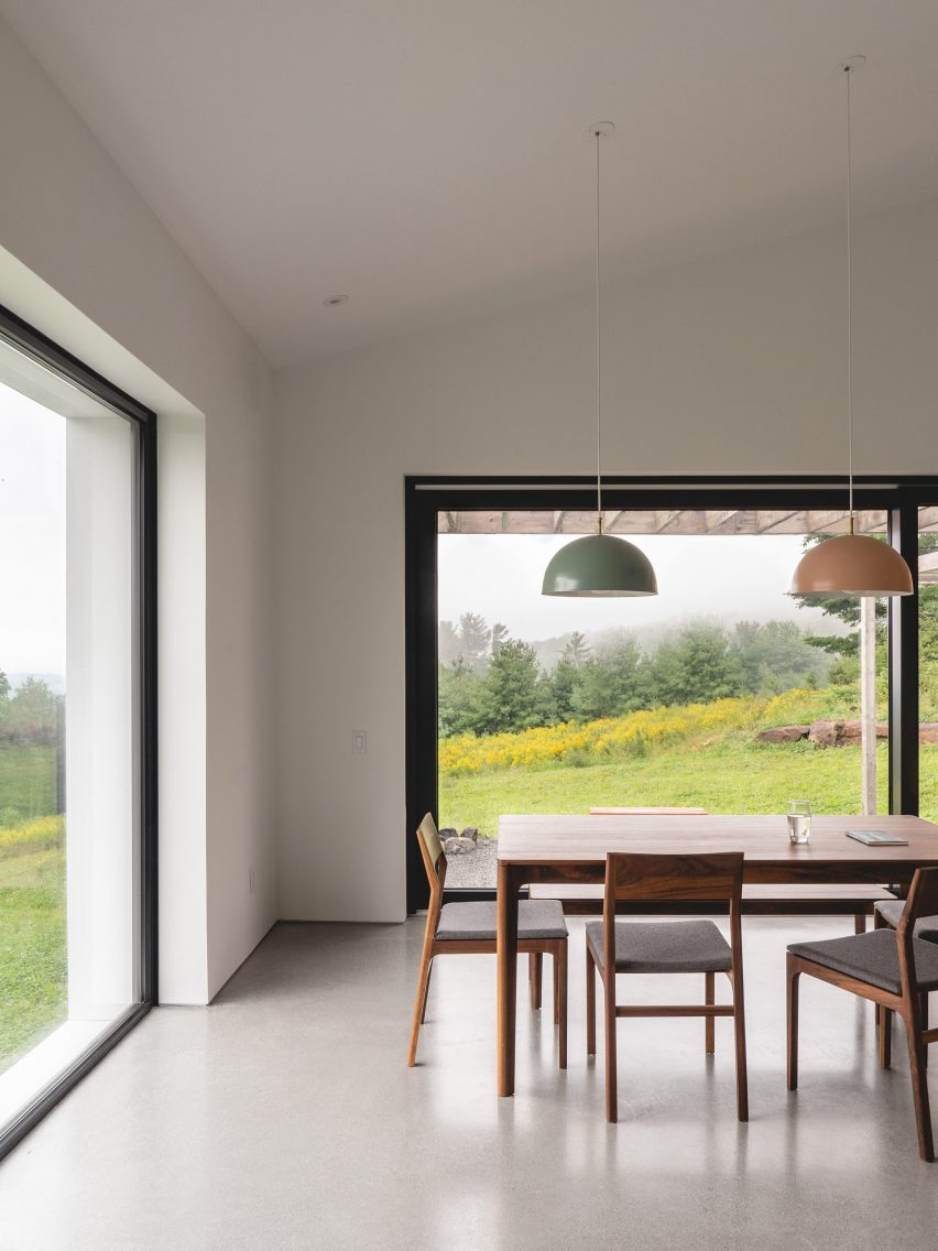 Large dining room windows
