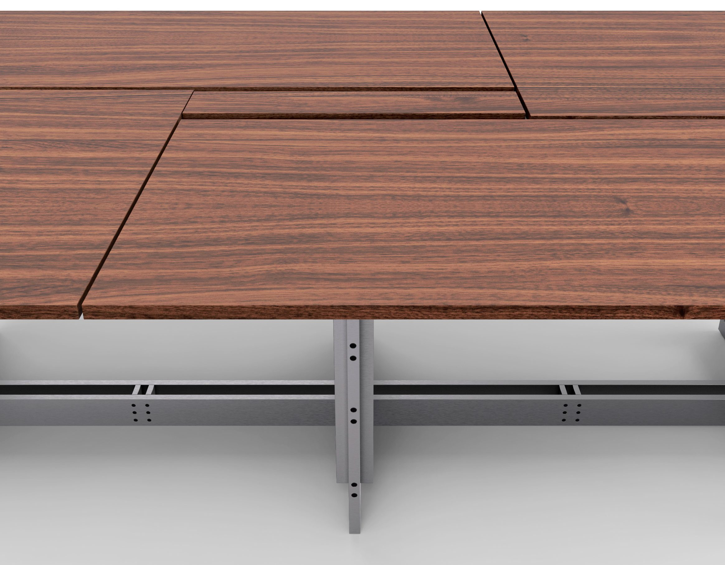 A photograph of a wooden table