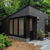Best Practice transforms storage shed into backyard studio in Seattle