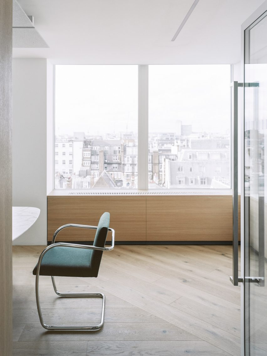 A chair inside Smithson Tower by ConForm Architects