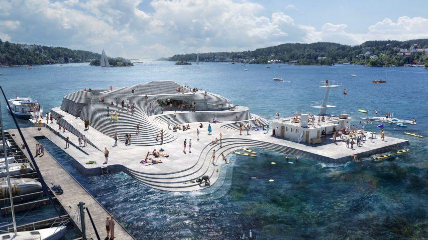 Knubben harbour bath redesign by Snohetta