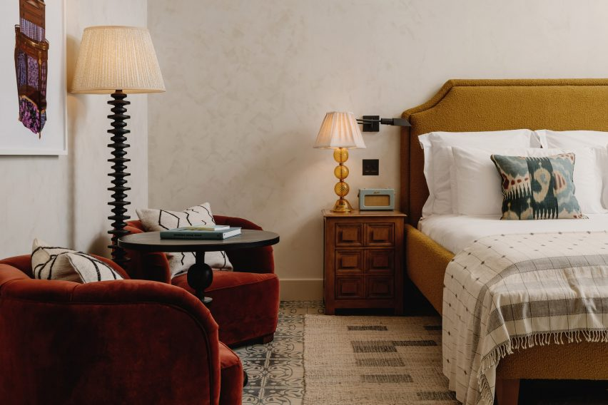 Bedroom at Soho House Austin