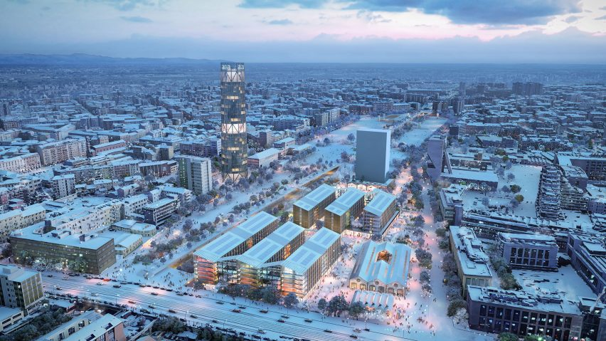Aerial view of proposed 2026 Olympic Village