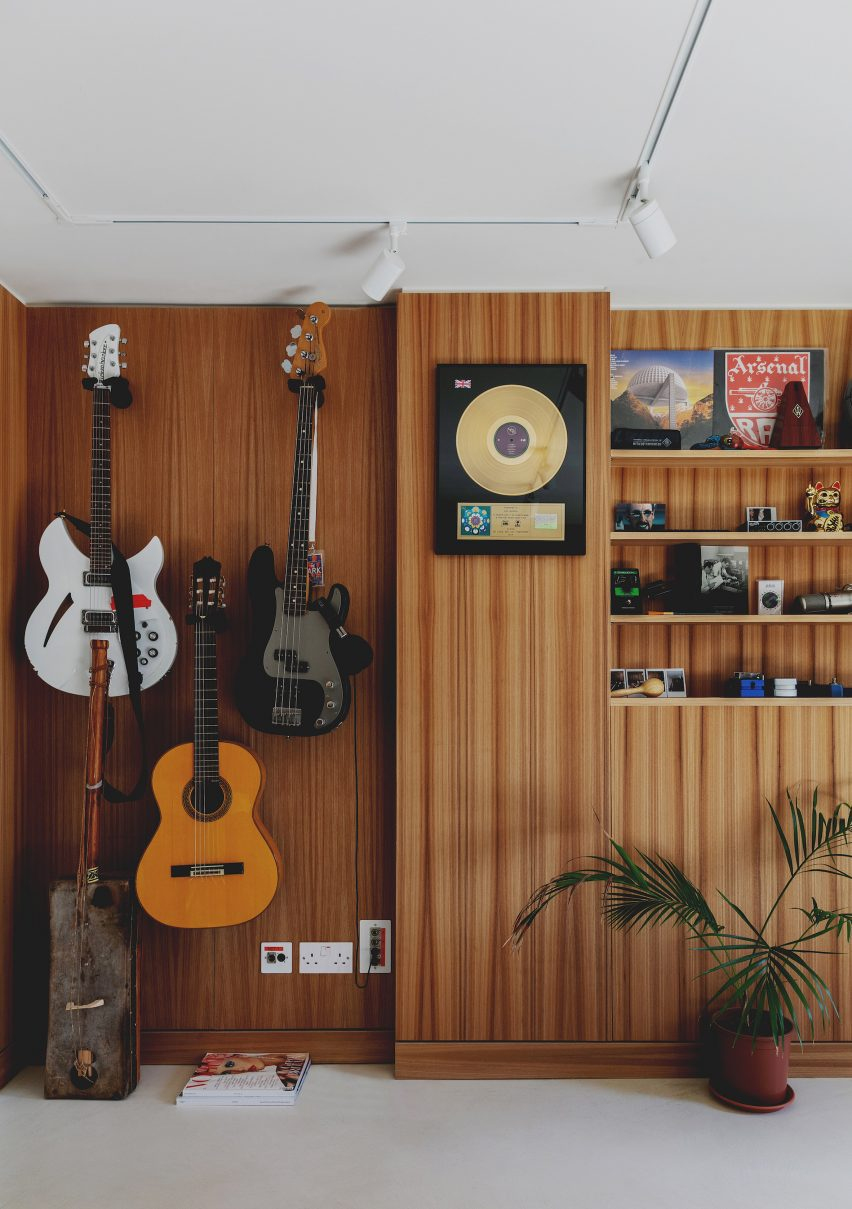 The 1970s-style house features a recording studio and writing room